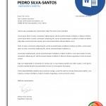 carta de apresentação editável em word
