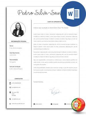 modelo de carta de apresentação editável em Word