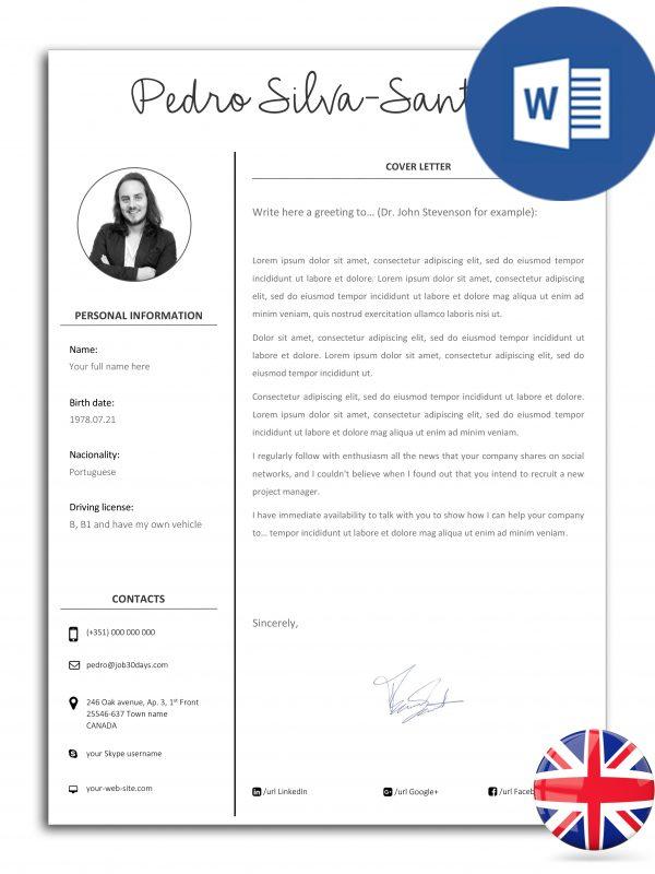 CL-DO-J30D-001 – modelo de carta de apresentação editável em Word (versão inglesa)