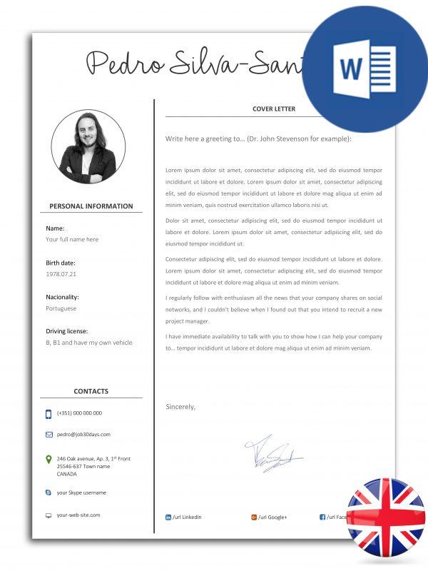 CL-DO-J30D-003 – modelo de carta de apresentação editável em Word (versão inglesa)