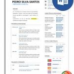 Modelo de currículo editável com uma única página