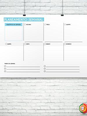 Modelo de planeamento semanal para impressão
