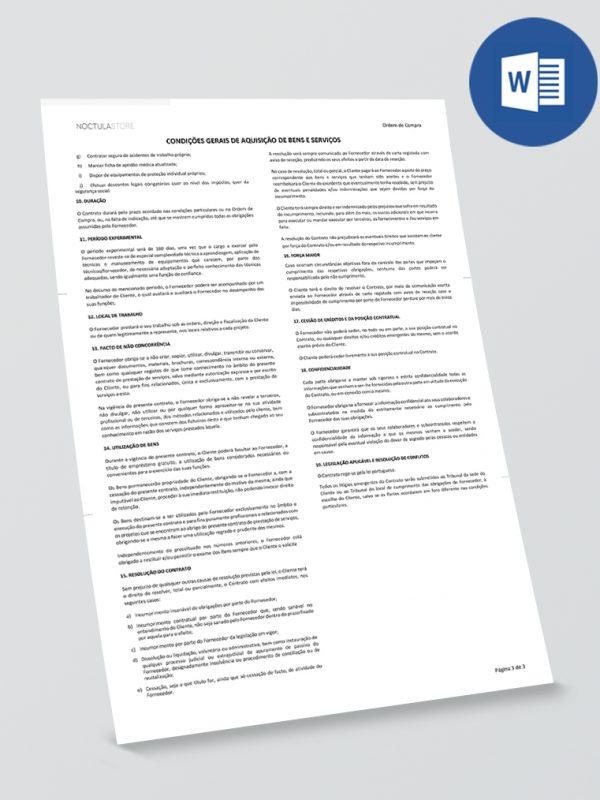Modelo de Ordem de Compra editável em Word – pag03