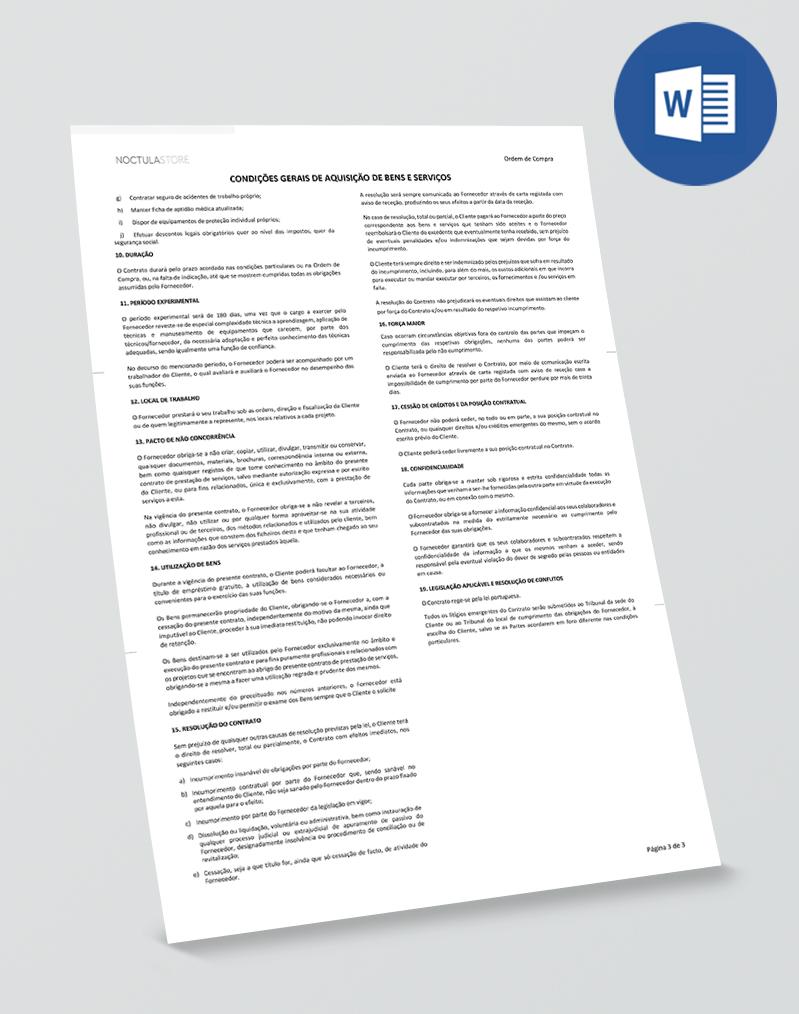 Modelo de Ordem de Compra editável em Word - pag03