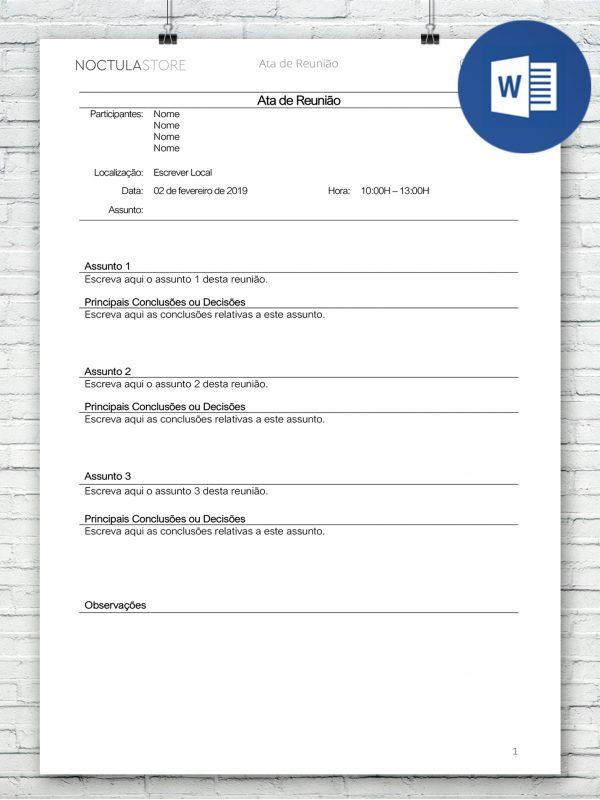 modelo de carta editavel em Word DO004 – destaque