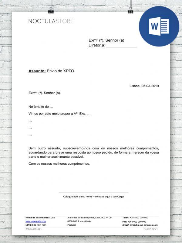 modelo de carta editavel em Word DO005 – destaque