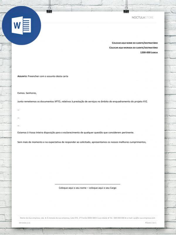 modelo de carta editavel em Word – destaque