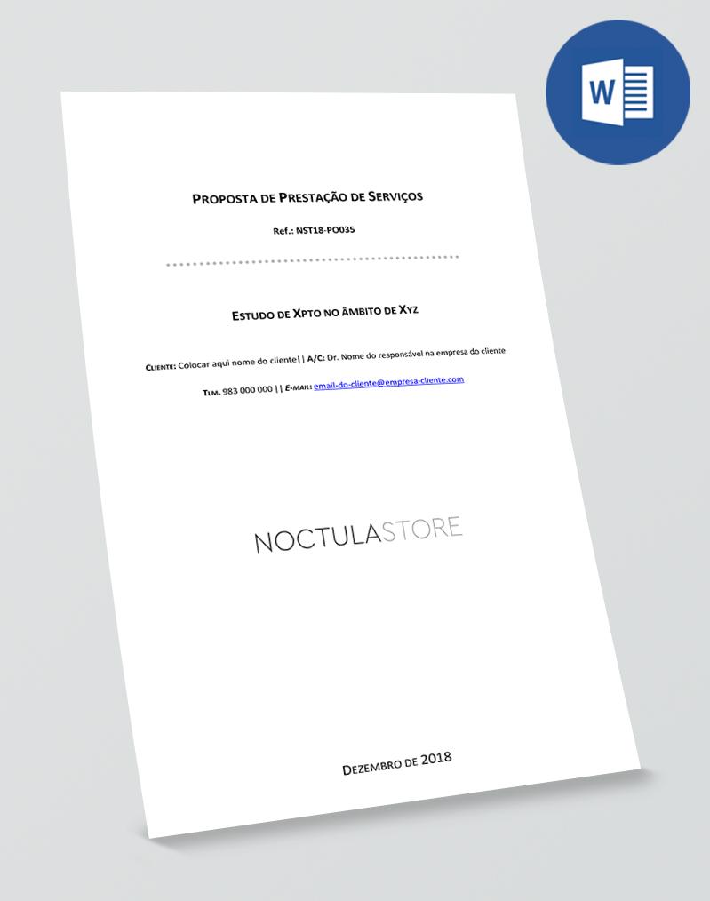 modelo de proposta editavel em Word - capa