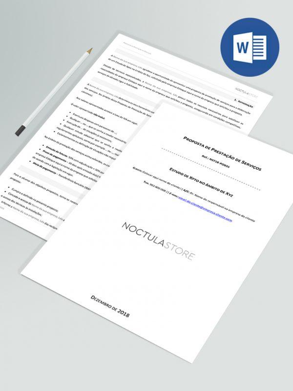 modelo de proposta editavel em Word – destaque