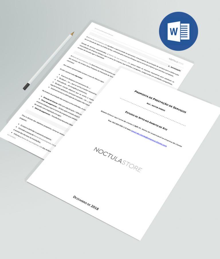 modelo de proposta editavel em Word - destaque