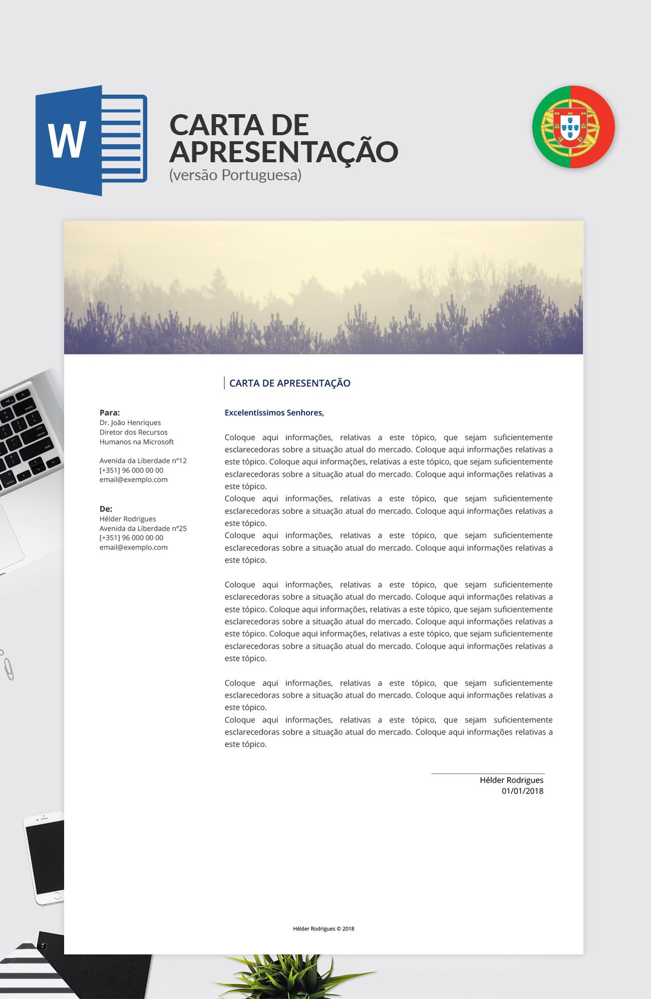 Modelo De Carta De Apresentação Editável