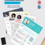 Pack de currículos e cartas de apresentação